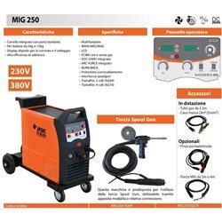 250A digital wire welder with trolley