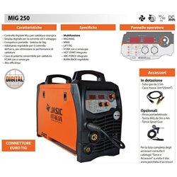 Saldatrice Sinergica Digitale 250A - Bobina 5/15kg - MIG/MAG