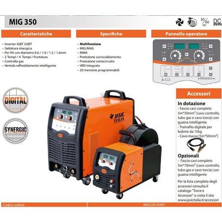 MIG 350A synergic welder