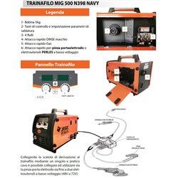 JASIC MIG500 NAVY 40 MT MIG / MAG / MMA / FCAW
