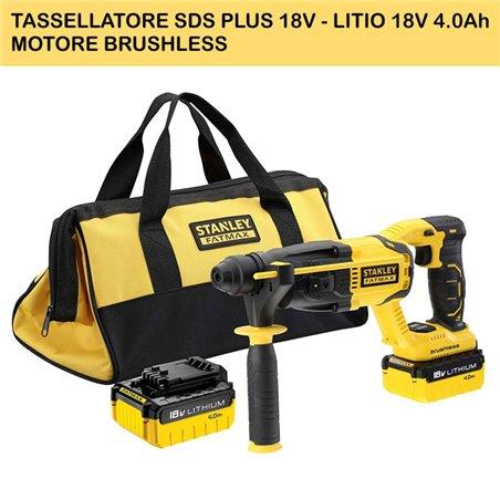 TASSELLATORE SDS PLUS 18V - LITIO 18V 4.0Ah - MOTORE BRUSHLESS