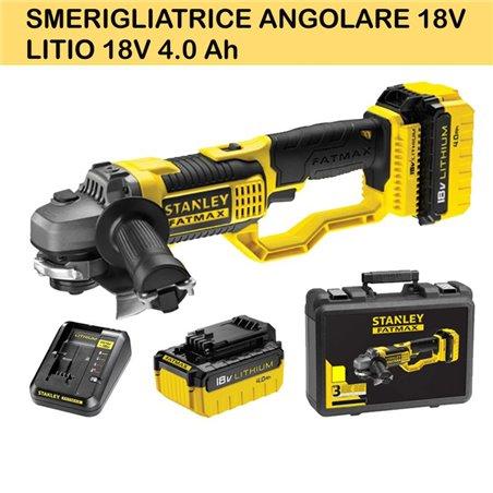 SMERIGLIATRICE ANGOLARE 18V - LITIO 18V 4.0 Ah