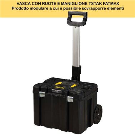 VASCA CON RUOTE E MANIGLIONE TSTAK FATMAX
