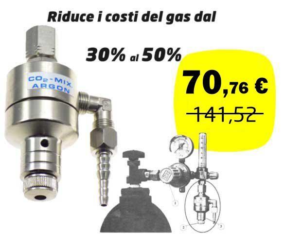 Mig-Mag-Tig Tecno 2000 gas economizer